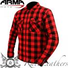 ARMR BUFFALO RED BLACK CHEQUERED ARAMID LINED ARMOURED CASUAL SHIRT JACKET