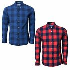 Crosshatch Mens Wently Check Shirt Collared Long Sleeve Regular Fit Cotton Top