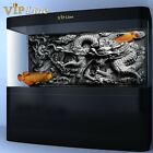 Внешний вид - Dragon Relief PVC Aquarium Background Poster 3D Fish Tank Decorations Landscape