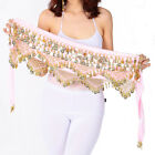 Belly Dance Costume Hip Scarf Bellydance Indian Belt Bollywood Outfits Velvet #2