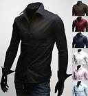 Mens New Luxury Slim Business Casual Dress Shirts Long Sleeve Formal Top W001