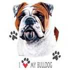 Dog Tshirt: I Love My Bulldog Cute Puppy Pet Paw Canine
