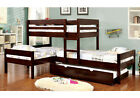 Ranford Corner L Shaped 3 Twin Bunk Bed Space Save Trundl...