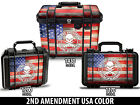 24mil Wrap Decal Sticker for Pelican Case 1170 1200 1430 Foam 2nd USA Flag CLR