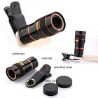 US Universal 8X Zoom Telephoto Telescope Lens Phone Camera Clip For Smart Phones