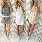Women Blouse Cotton Long Sleeve Ladies T Shirt Casual Loose Short Dress Tops Lot