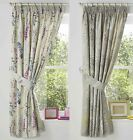 "HAZE FLORAL LEAF TAPE TOP CURTAINS THERMAL BLOCK OUT CURTAINS 66"" x 72"""