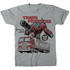 Transformers Optimus Prime Heather Gray Adult T-Shirt
