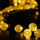 20Ft LED Crystal Ball Solar Powered Outdoor String Light for Outside Patio BBUS