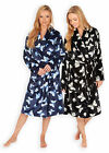 Ladies Butterfly Soft Touch Dressing Gown New Womens Fleece Bathrobe UK 8-22