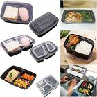 Microwave & Dishwasher Safe Compartment Meal Prep Plastic Food Containers 10Pcs