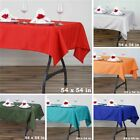 """12 pcs 54"""" SQUARE POLYESTER TABLECLOTH Wedding Party Catering Dinner Linens SALE"""