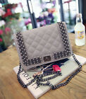 Female fashion small square package Lingge chain Clutch shoulder Messenger Bag