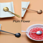 1Pc Flower Spoon Floral Stainless Steel Coffee Sugar Ice Cream Vintage Spoons