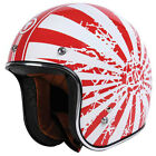 Torc T50 Japanese Bobber Open Face Motorcycle Helmet Red/White