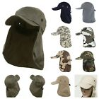 Внешний вид - Men's Baseball Cap Neck Cover Hiking Fishing Hunting Camo Army Bucket Sun Flap