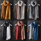 Stylish Women's Long Floral Print Cotton Scarf Casual Wrap Shawl Large Scarves