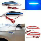 2 PCS Universal Panels LED Car Steering Light Fender Turn Signal Blue Side Light