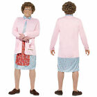 Smiffy's Adult Mrs Brown Padded Pink Dress Costume Fancy Dress Outfit