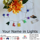 GIRLS LED Light Nursery Wall Decor Baby Night Lights Lamp Bedroom Christmas
