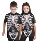 Christys Dress Up Childs Black And Bone Skeleton T Shirt Kids Halloween Tee Top