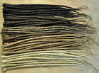 Dreadlock Extensions SINGLE ENDED 50cm long & 1cm wide,  30 individual dreads