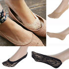 Women Sexy Lace Antiskid Boat  Invisible Liner Low Cut Socks Toe Ankle Socks NEW
