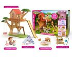 Calico Critters ADVENTURE TREE HOUSE GIFT SET w Furniture + 3 Critters ~NEW~