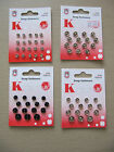Snap Fasteners Pop Studs Black / Silver assorted Silver 8/5mm 000 dolls clothes