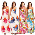 Pistachio Womens Tropical Or Floral Print Long Dresses New Ladies Bandeau Maxi