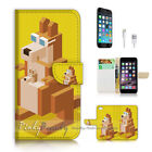 ( For iPhone 7 ) Wallet Case Cover P2809 kangaroo