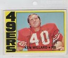 Ken Willard 1972 Topps auto autographed signed card 49ers