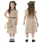 Smiffy's Girl Evacuee Costume 1940s World Book Day Fancy Dress Outfit