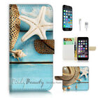 ( For iPhone 7 Plus ) Wallet Case Cover P2970 Beach Life
