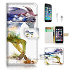 ( For iPhone 7 Plus ) Wallet Case Cover P2973 Horse