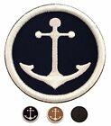 Round Embroidered ANCHOR PATCH NAVY Nautical Applique Iron On Sew Sailor Captain