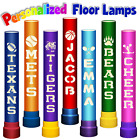 "Personalized Sports Lamp 36""- Cutouts of Name / Team / Mascot / School / College"