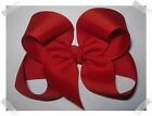 LARGE Loopy Style Grosgrain Boutique Hair Bow in RED with knotted center