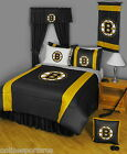 Boston Bruins Comforter Sham Bedskirt Curtains Valance Twin Full Queen King Size