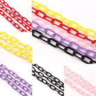 1PC Plastic Elliptical Ring Chain Jewelry DIY Making Craft Gift 13x6x1mm 6 Color