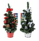 Pretty 45cm Mini Desk Top Table Top Decorated Christmas Tree with 20 LED Lights