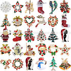 Merry Christmas Santa Clause Xmas Tree Boot Brooch Pin Party Gifts Broach Badge