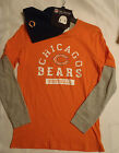 Boys NFL Chicago Bears L or XL Long Sleeve Orange Shirt Navy Winter Hat NWT