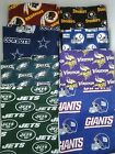 NFL Team Throw/Toss Full Pillow Handmade Sports Decor Game Day Washable Cotton