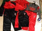 Youth Kids Toddler Under Armour Texas Tech Red Raiders Shirt Pants Jacket Set
