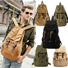 1 Men's Trendy Cotton Retro Fashion Rucksack Street Style Canvas Travel Backpack