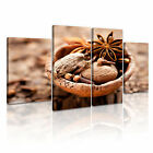 FOOD & DRINK SPICE PEPPER Canvas Framed Printed Wall Art 76 ~ 4 Panels
