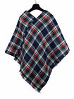 SALE Ladies Checkered Tartan Wrap/Poncho 91232