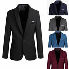 New Stylish Men\'s Casual Slim Fit Formal one Button Suit Blazer coat Fashion Hot