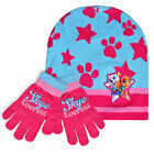Girls Nickelodeon Paw Patrol Hat And Glove Set New Kids Skye Everest Winter Set